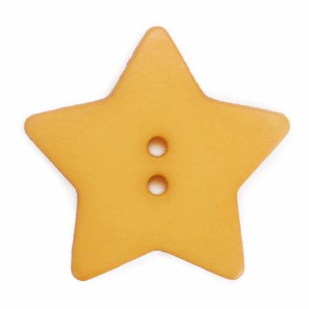 School Yellow 1-1/8in 2 Hole Star Button 12 per Tube