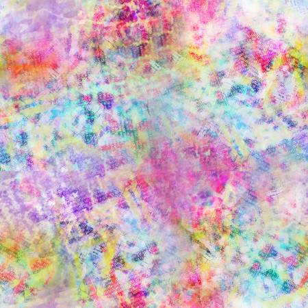 Multi Watercolor Texture Digitally Printed