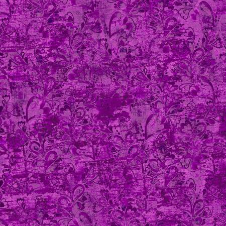3 Wishes In the Meadow 14494-Purple Tonal Digitally Printed