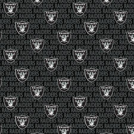 NFL Football Oakland Raiders Cotton Print