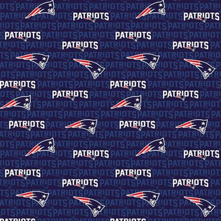 Licensed:  NFL New England Patriots logo on Navy, 58 wide by Fabric Traditions