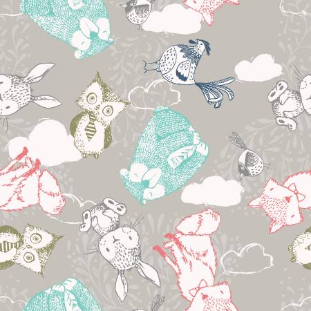 Little Thicket - Light Grey Animals