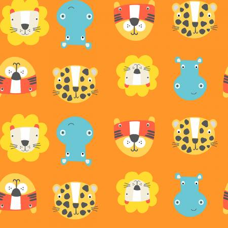 3 Wishes - Stay Wild by Sally Payne - Orange Animal Faces