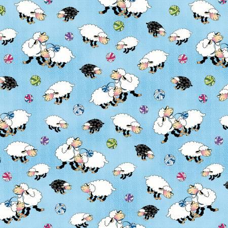 Blue Sheep Allover Blue 1456-11