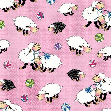 Pink Sheep Allover 1456-22 Pink