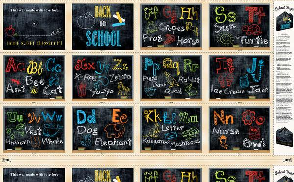 Multi School Days Book Panel