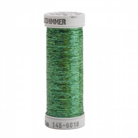 Holoshimmer Polyester Metallic Thread 250yds Christmas Green