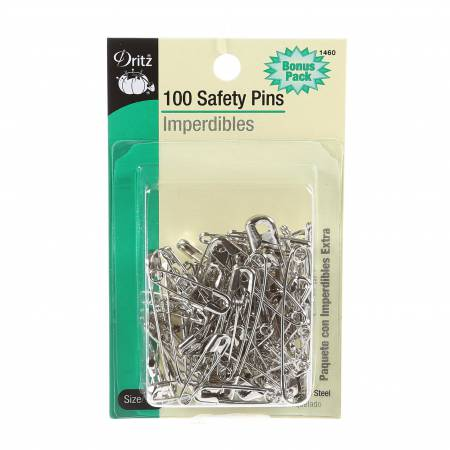 Dritz Safety Pin Assorted Bonus Pack 100ct