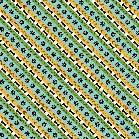 Aqua/Green Diagonal Stripe