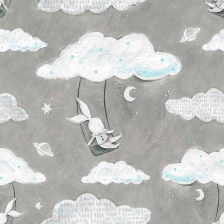 Adventures in the Sky - Grey Swinging Bunny