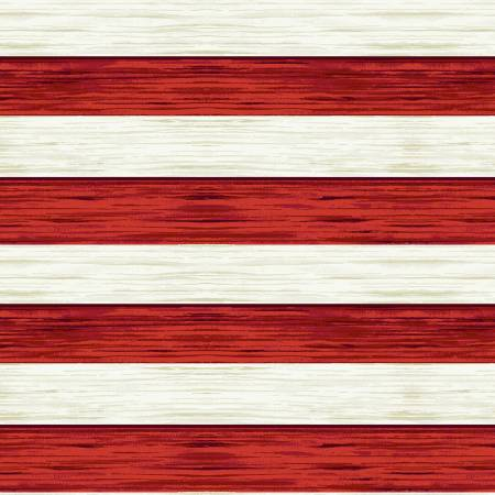 America the Beautiful Red/Off White Stripe