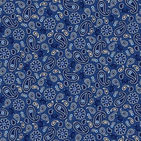 Blue Mini Paisley