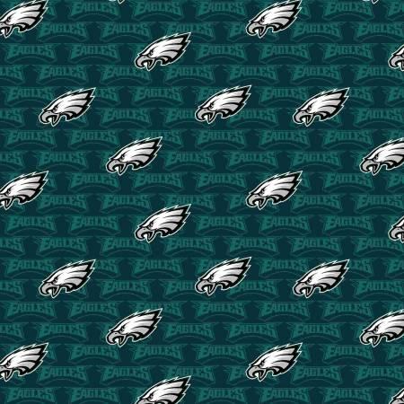 NFL Football Philadelphia Eagles  14735-D 58-60 Wide Cotton