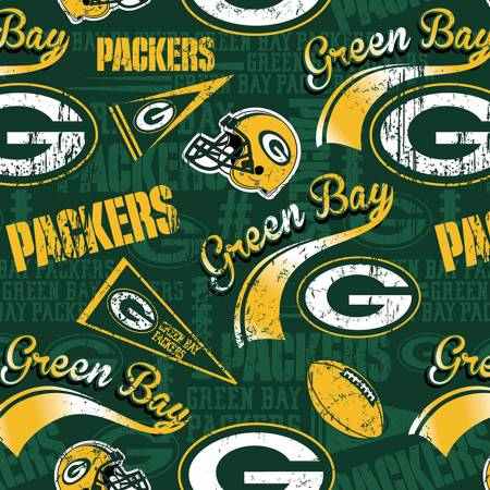 NFL Football Green Bay Packers 14837-D Cotton Print 58-60 Wide