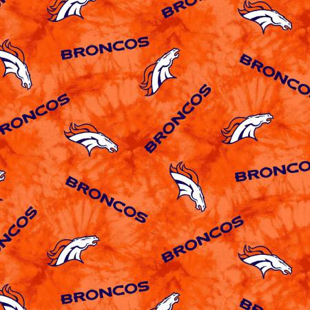 NFL Football Denver Broncos Flannel Print