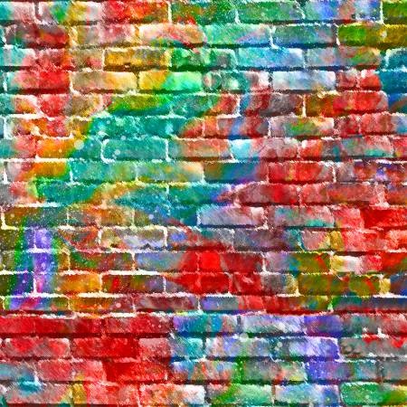 Sip & Snip Multi Brick Wall Digitally Printed 14907-MULTI