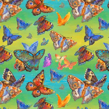 Multi Butterflies Digitally Printed