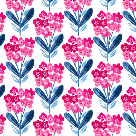 White Fixed Floral Digitally Printed
