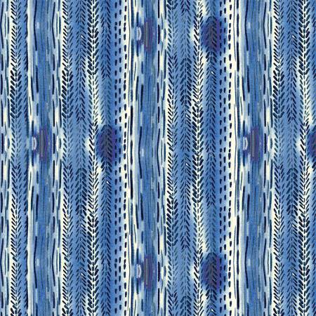 Charisma Blue Texture Stripe