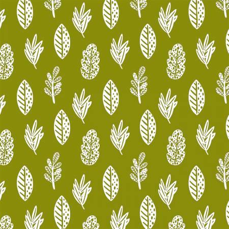 Animal Hugs 15041 Green Fixed Leaves