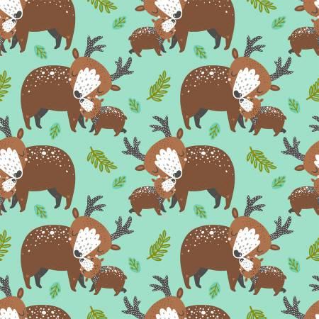 Animal Hugs 15045 Turquoise Deers