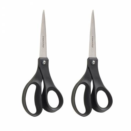 Recycled Performance Scissors 8in Black 2 Pack
