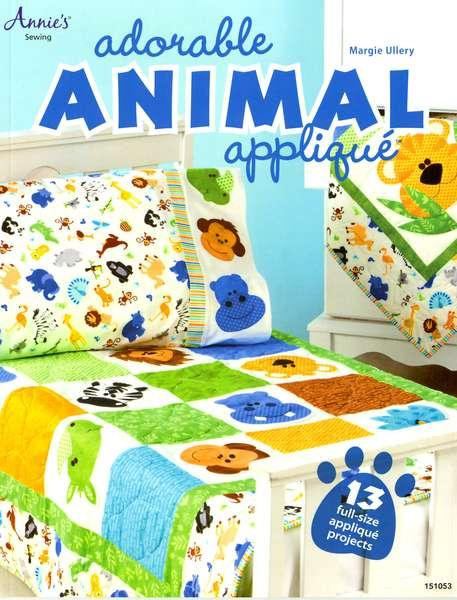 Adorable Animal Applique - Softcover