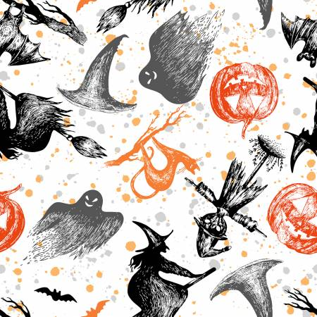White Spooky Night Halloween
