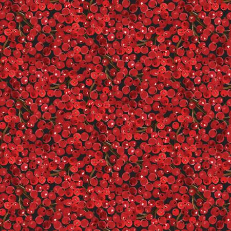 Quilter's Palette Christman Floral Berries Red