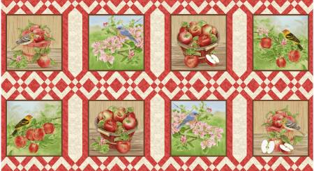 Red Apple Festival 8in x 8in Blocks