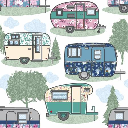 White Camper Trailers Comfy Flannel
