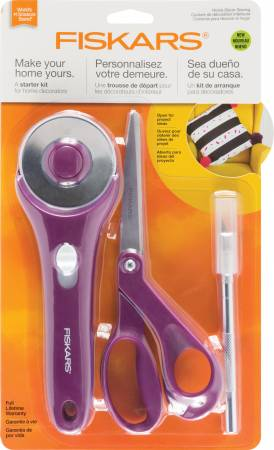 Fiskars Home Decor Sewing Fashion Starter Set 3pc
