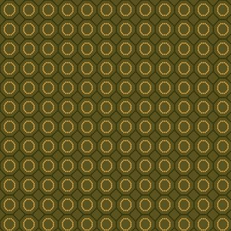 Henry Glass Sage & Sea Glass 1544-66 Green Dotted Hexies