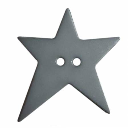 Grey Wonky Star Button