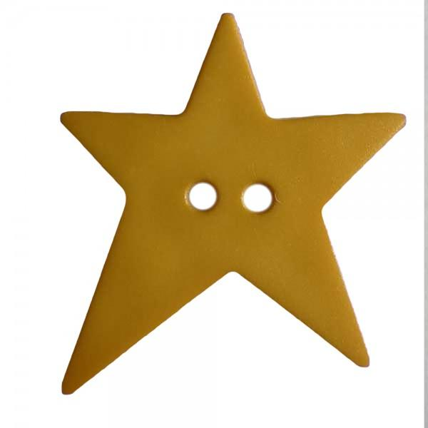 School Yellow Wonky Star Button