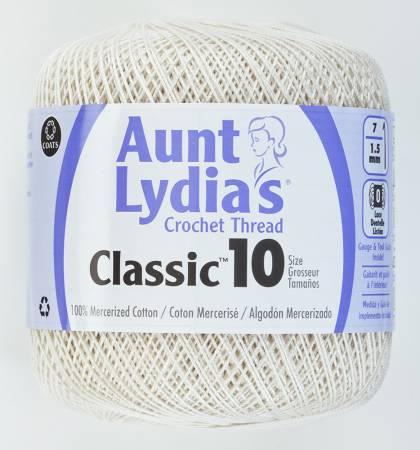 Aunt Lydia Crochet Thread Size 10 Antique White