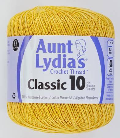 Aunt Lydia Crochet Thread Size 10 Golden Yellow