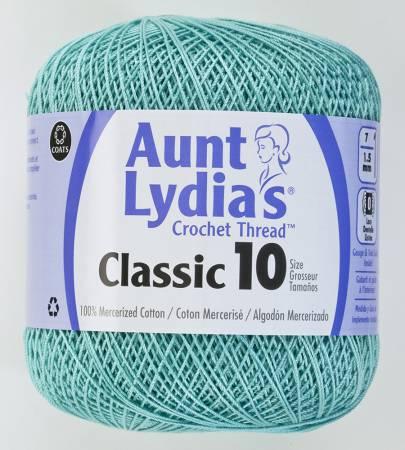 Aunt Lydia Crochet Thread Size 10 Aqua