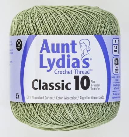 Aunt Lydia Crochet Thread Size 10 Frosty Green