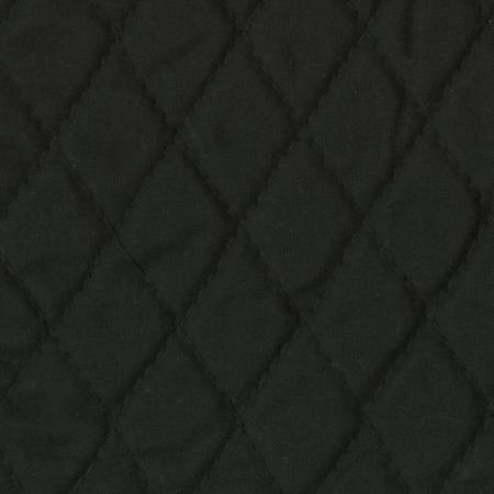 Black Classic Single-Faced Pre-Quilted Fabric