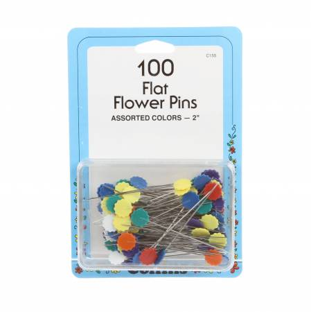 Flower Head  Pin Bonus Pack Size- 2in 100ct