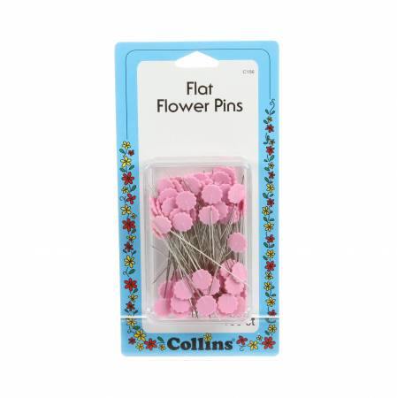 Flower Head Pins Pink Size 30- 100 Count 1 7/8