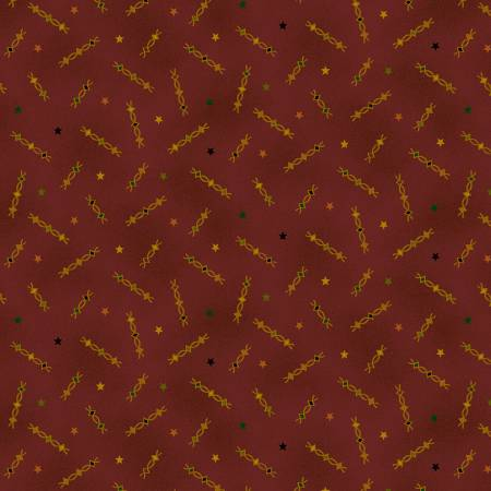 Deep Red Star Squiggles
