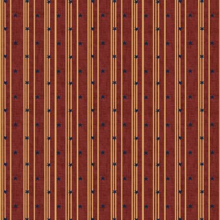 Medium Red Stars & Ticking Stripe