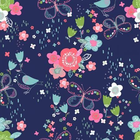 Hello Spring Navy Garden 15972-NAV