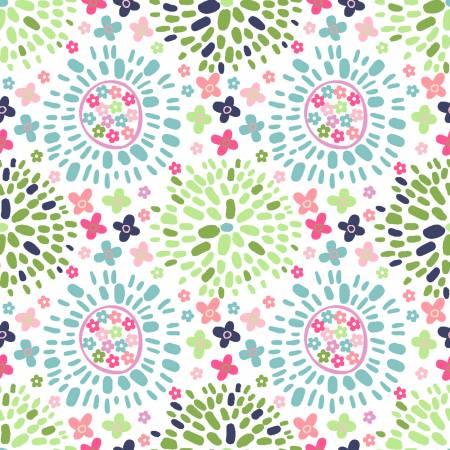 Hello Spring White Color Puff 15981-WHT