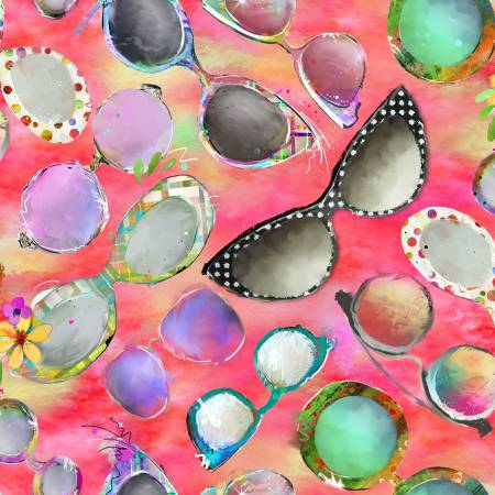 Coral Sunglasses Digitally Printed