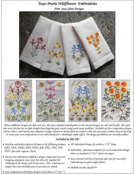 CD Texas Prairie Wildflowers Embroidery