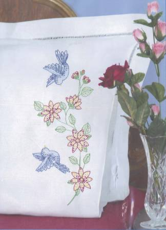 Birds Perle Edge Pillowcase
