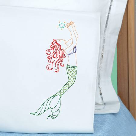 1600-916 Mermaid Perle Edge Pillowcase